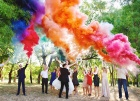 Цветной дым для свадьбы в Вологде